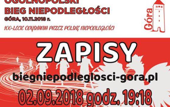 START ZAPISÓW na XXV Bieg Niepodległości Góra 2018